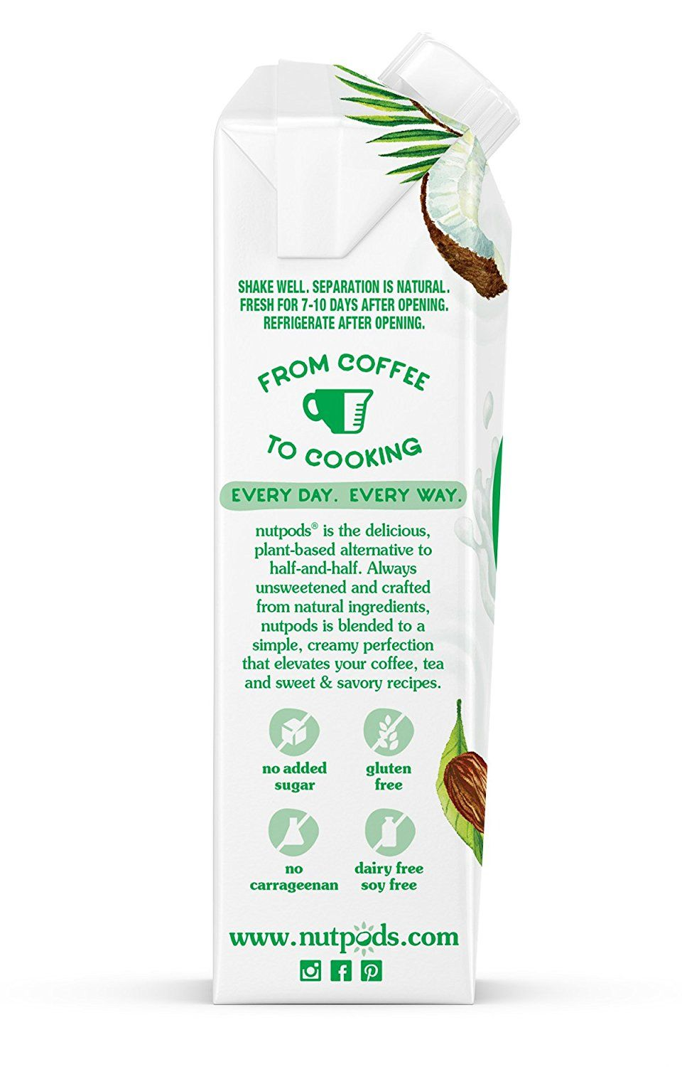 nutpods Dairy Free Coffee Creamer Unsweetened (Variety 3