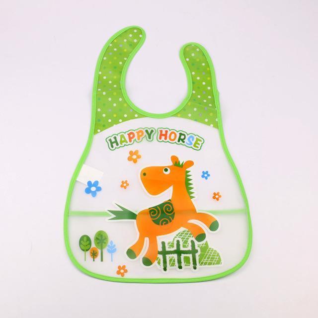 Baby Feeding Cartoon Bib Toddler Infant Waterproof Durable Burp Cloths Feeding