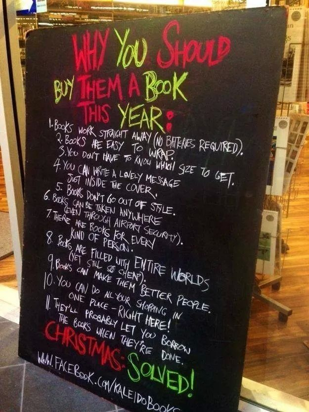 Why books are great gifts!