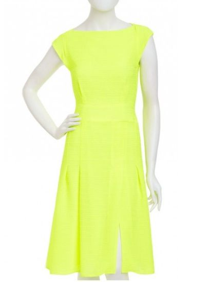 Nanette Lepore Picture Day Dress in Citron - Would've pinned, but uploaded to show this particular color - an even brighter neon when seen in person!