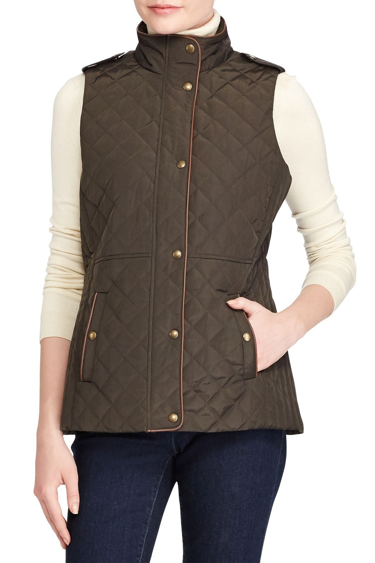 93a12162e2ea Lauren Ralph Lauren | Quilted Vest in 2019 | Fall Maybe | Quilted ...