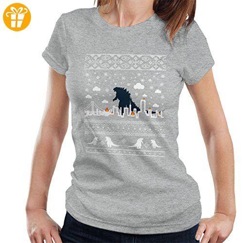 Godzilla City Destroyer Christmas Knit Women's T-Shirt (*Partner-Link)