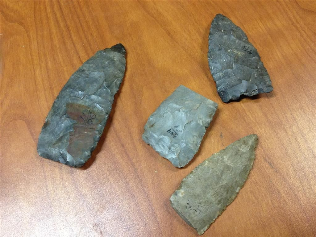 Real Native American Arrow Heads (4)