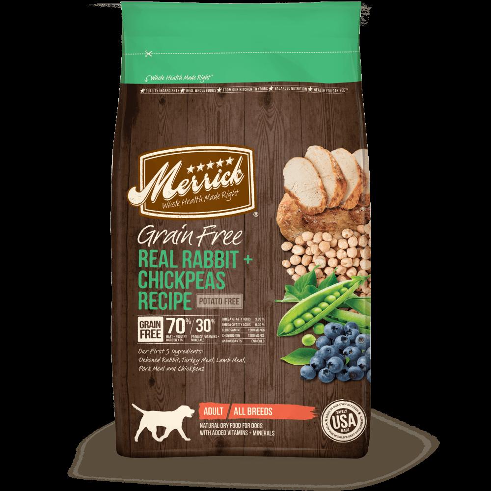 Merrick Grain Free Real Rabbit and Chickpeas Recipe Adult