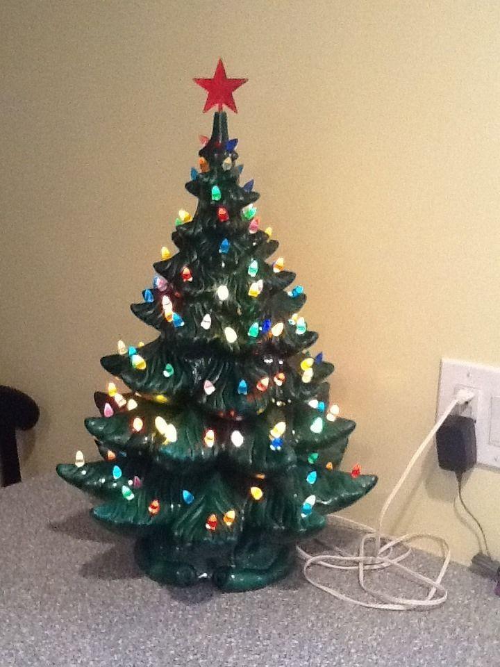 Vintage Ceramic Christmas Tree | Huge Atlantic Mold Ceramic ...