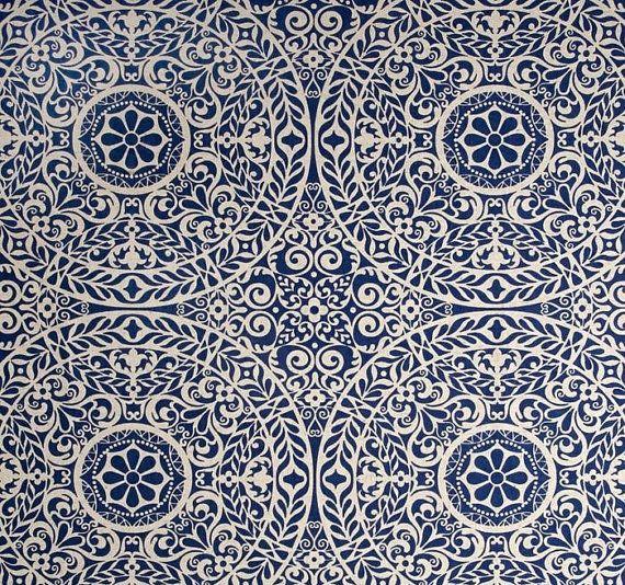 Indigo Tachenda Geometric Tablecloth by by PrimalVogueHomeDecor