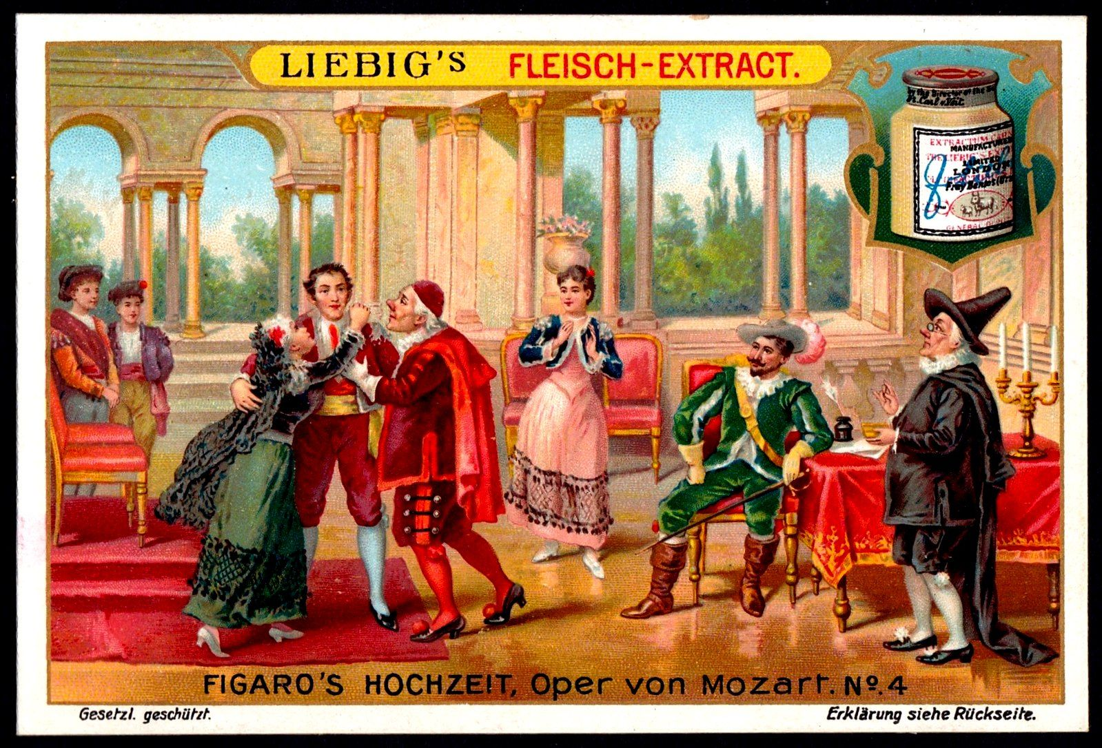 Liebig Tradecard S828 The Marriage Of Figaro Publicite Album