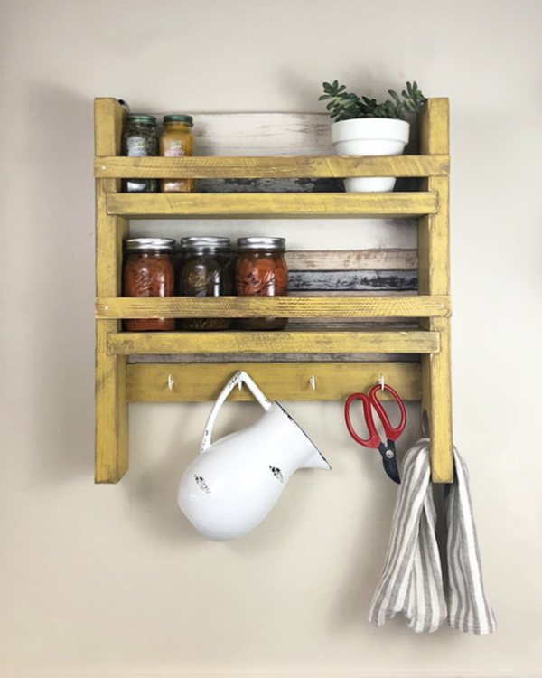 The Virginia Kitchen Shelf Kitchen Shelves And Wall Mount Spice Rack Wall Mounted Spice Rack Kitchen Shelves Country Kitchen Decor