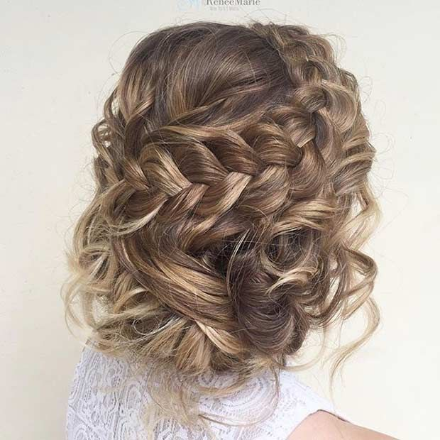 Curly And Braided Updo For Prom Prom Hairstyles For Short Hair Prom Hairstyles For Long Hair Long Hair Styles