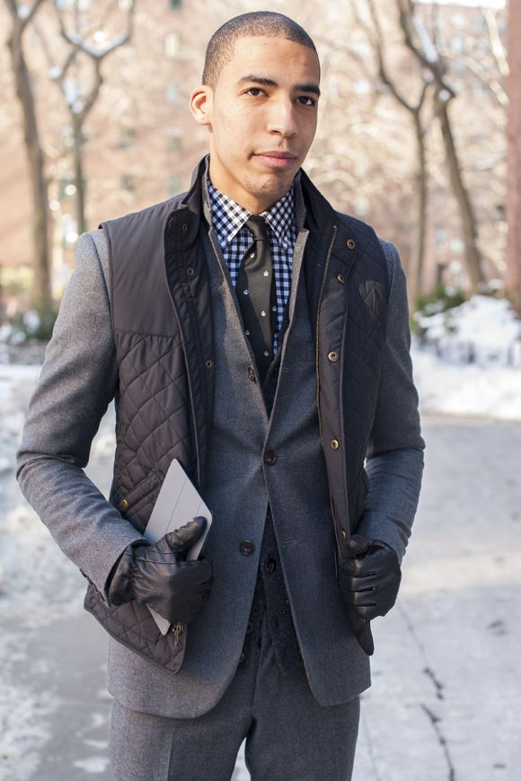 Men's Charcoal Gilet, Grey Wool Suit, Charcoal Cardigan, Black and ...