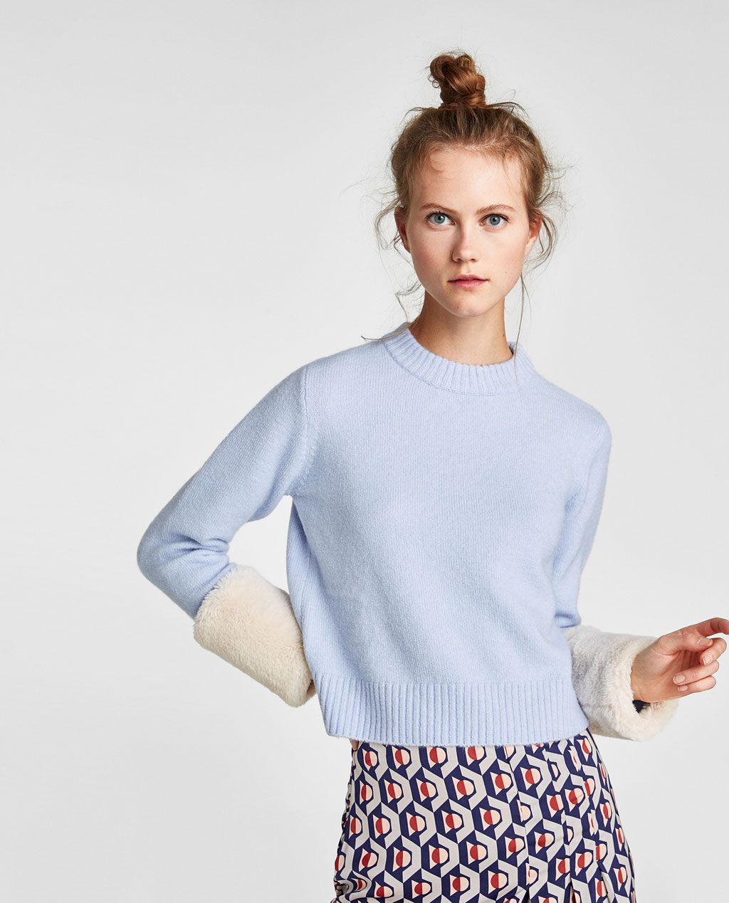 0e16c4c4c11 SWEATER WITH TEXTURED CUFFS - Available in more colours ...