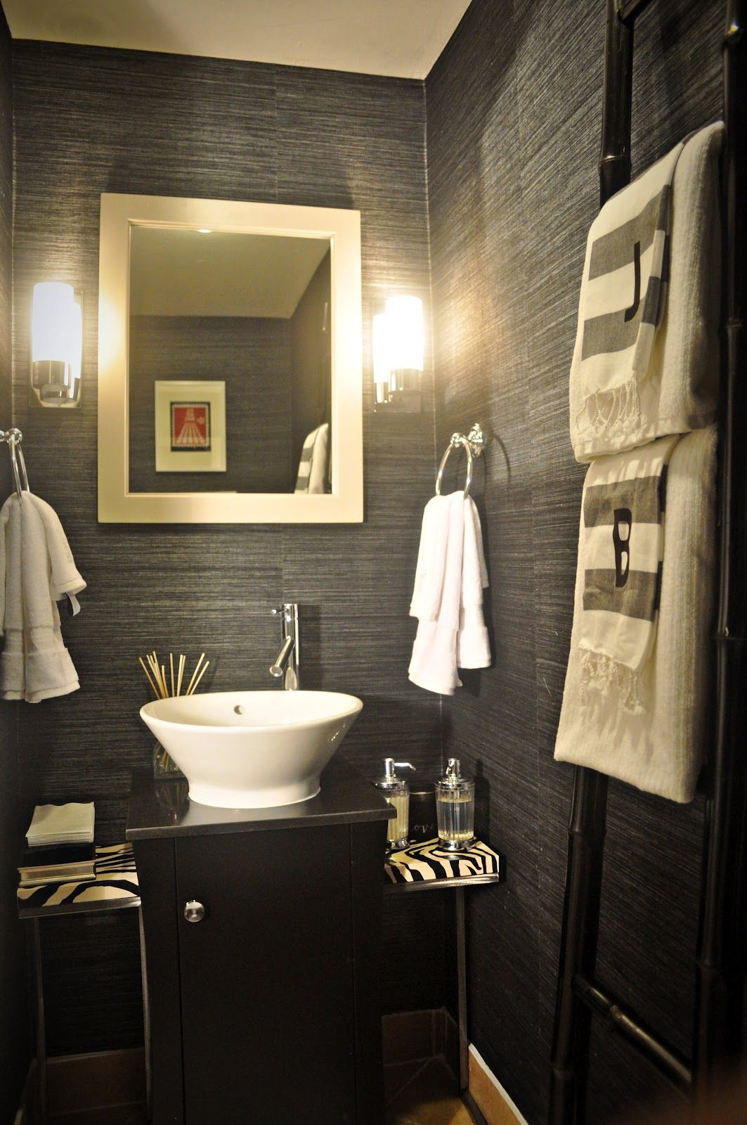 Beautiful Contemporary Powder Room Design | Believe It Or Not, All These Items Were  Sourced At