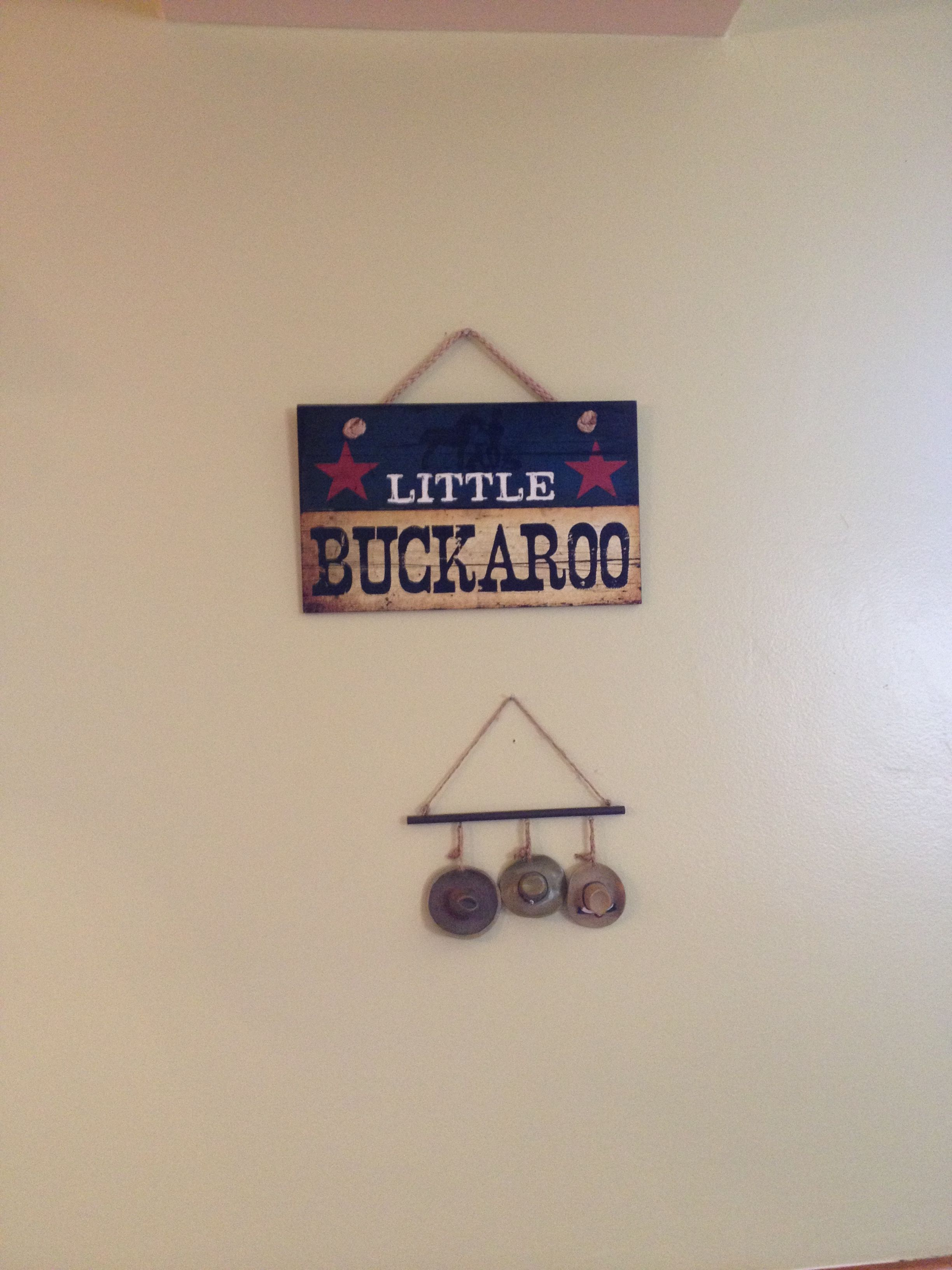 Little buckaroo / cowboy themed baby shower got the sign off of Amazon