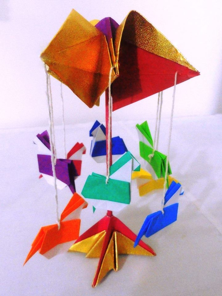Origami Carousel Or Merry Go Round Toys And Action Origami