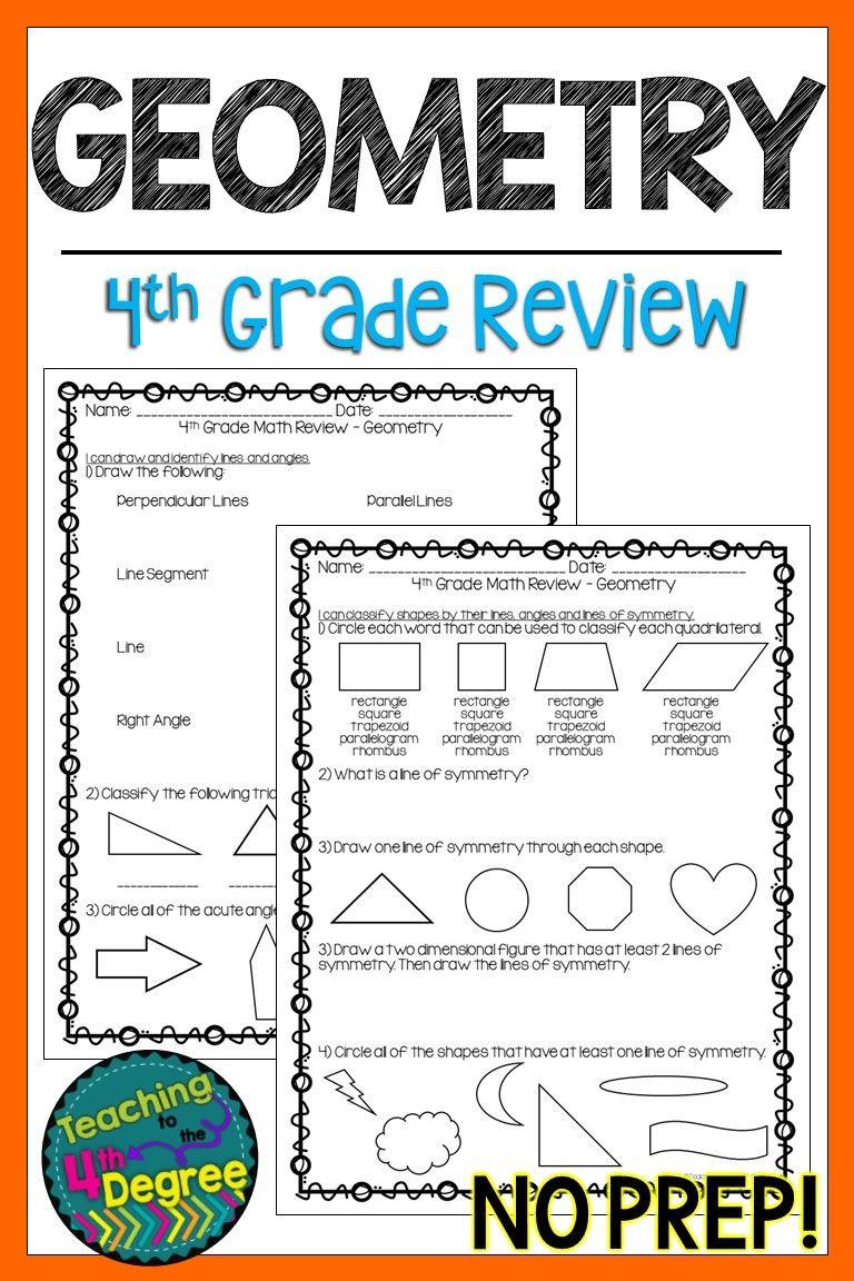 4th Grade Geometry Review Geometry Review Upper Elementary Math 4th Grade Math