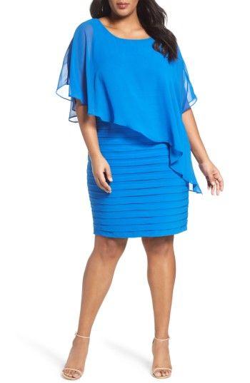 Sequence Bodice Shutter Pleat Sheath Dress