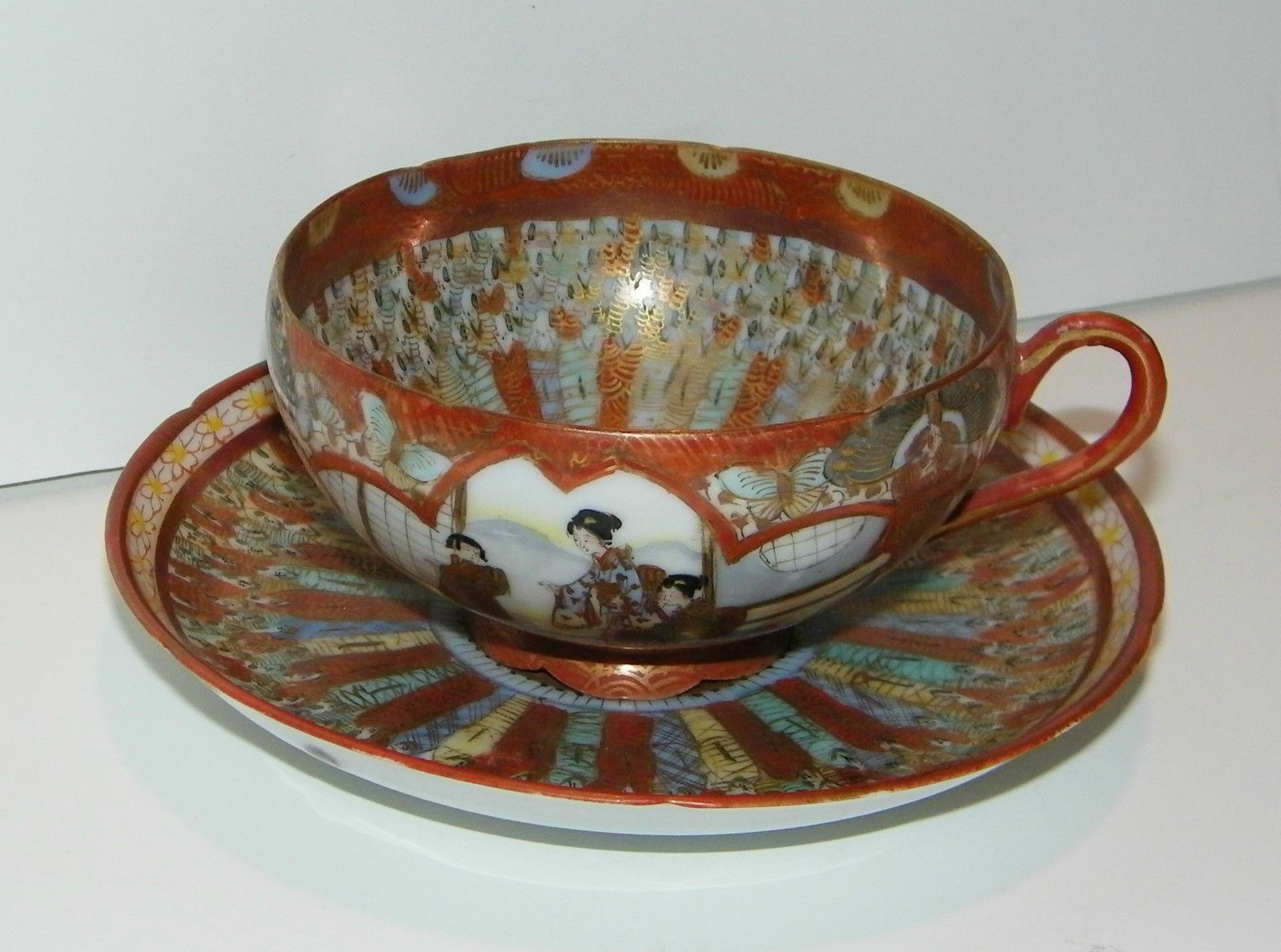 Egg-shell cup and saucer
