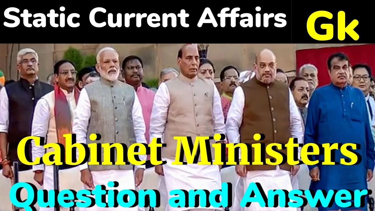 Ministers of India 2020 List of all