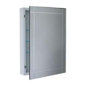 Mirror Option 4 Allen Roth 22 In X 30 In Frameless Bevel Metal Surface Mount Medicine Cabin
