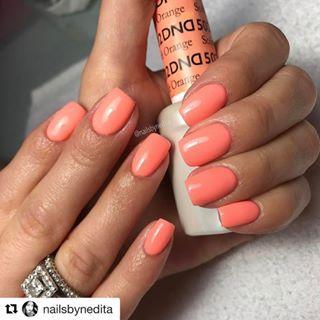 Dnd Duo Gel 502 Soft Orange Nails In 2019 Dnd Gel Polish Dnd Nail Polish Orange Nails