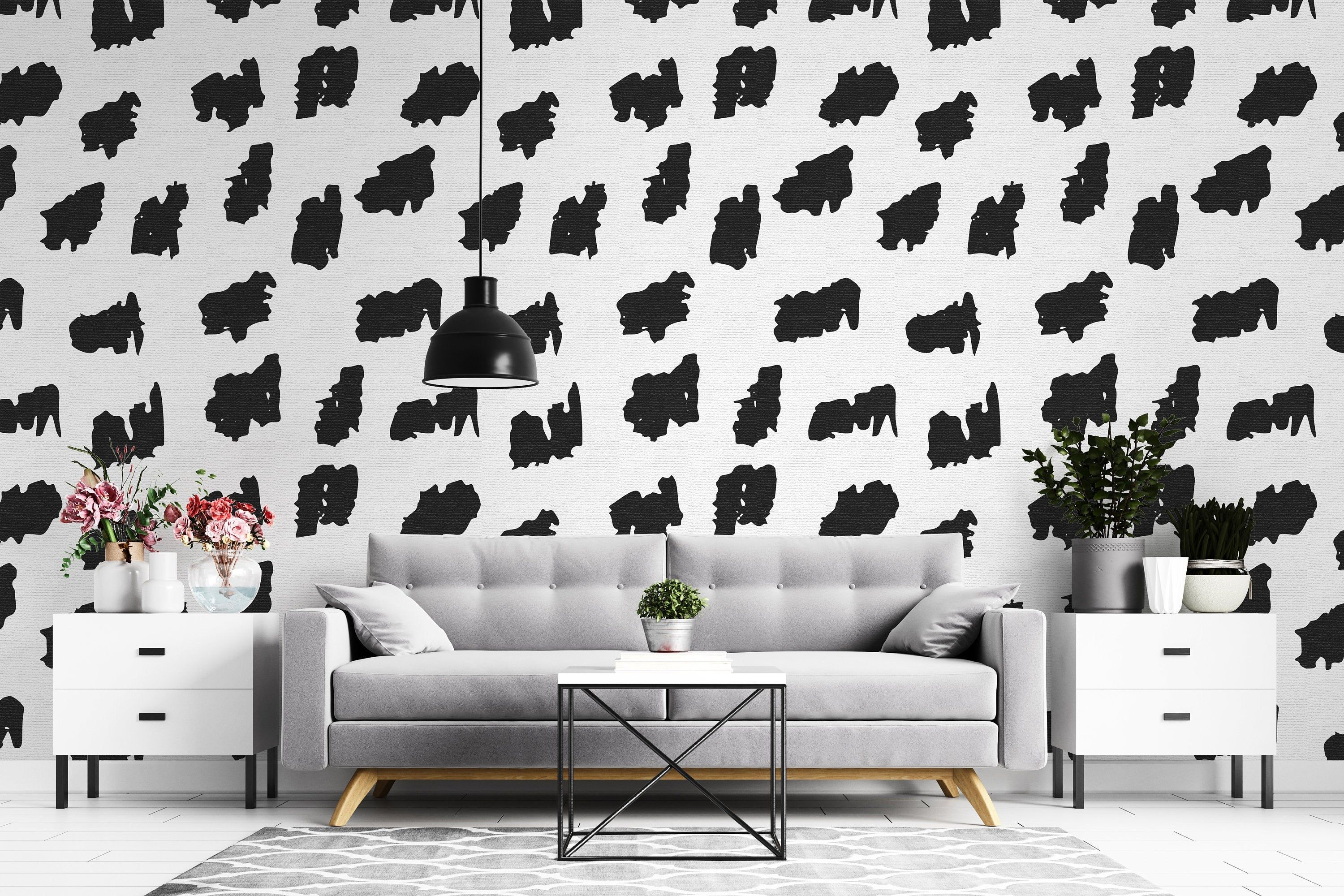 Geometric Pattern Removable Wallpaper Reusable Wall Art Peel And Stick Room Decor Self Adhesive Wall Mural Eco Friendly Removable Wallpaper Room Decor Removing Old Wallpaper