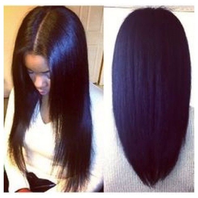 Middle part Sew-In (tap for hair details) | Hair styles ...