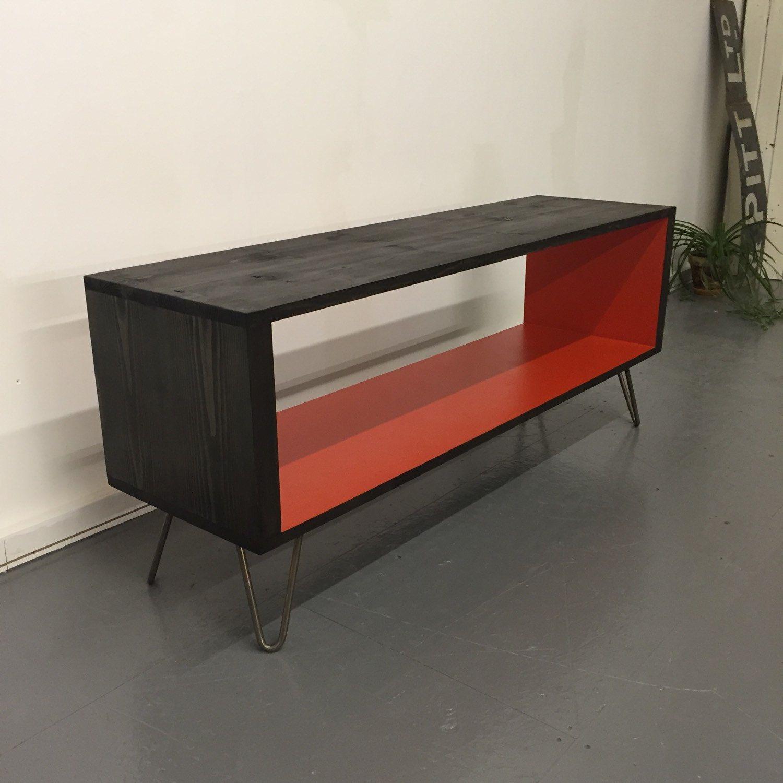 Stanton Large 140cm Record Player Stand, Vinyl Storage Cabinet ...