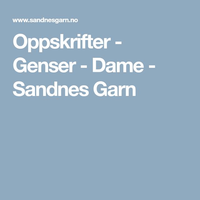 Oppskrifter - Genser - Dame - Sandnes Garn