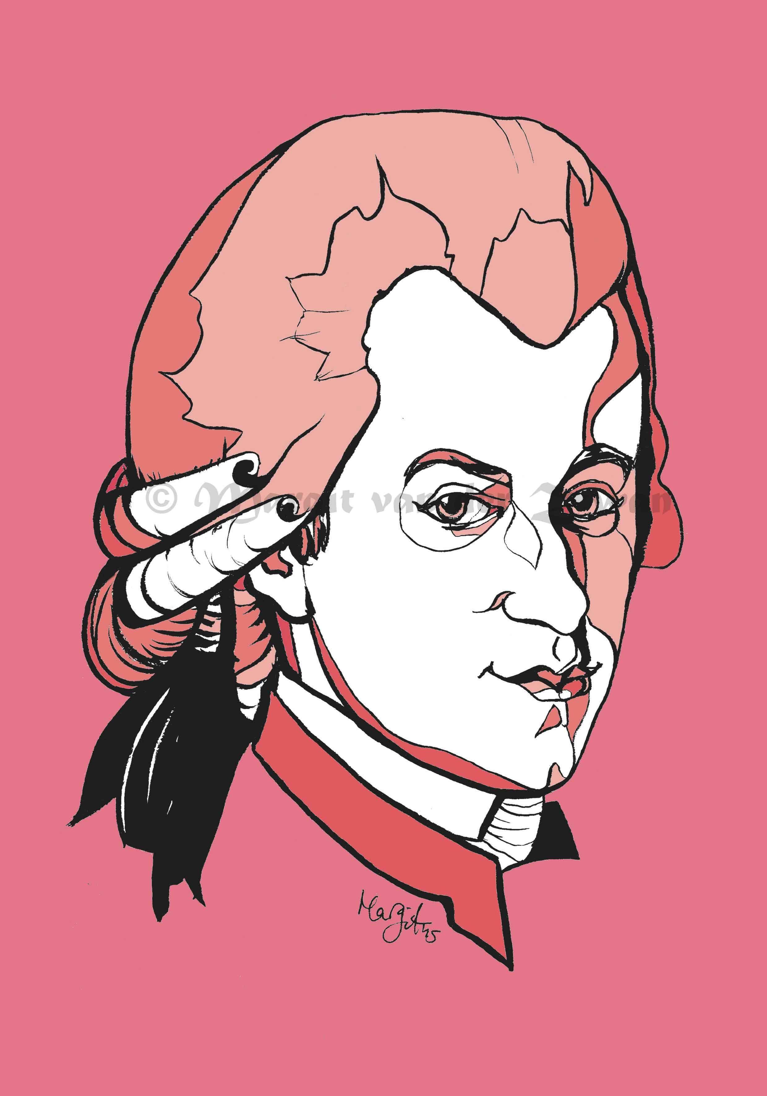 Mozart Art Print /'Hope/' Music Composing Wolfgang Amadeus Photo Poster Gift