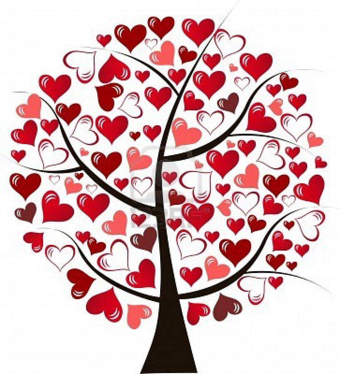 Stock Vector Tree art, Heart tree, Illustration