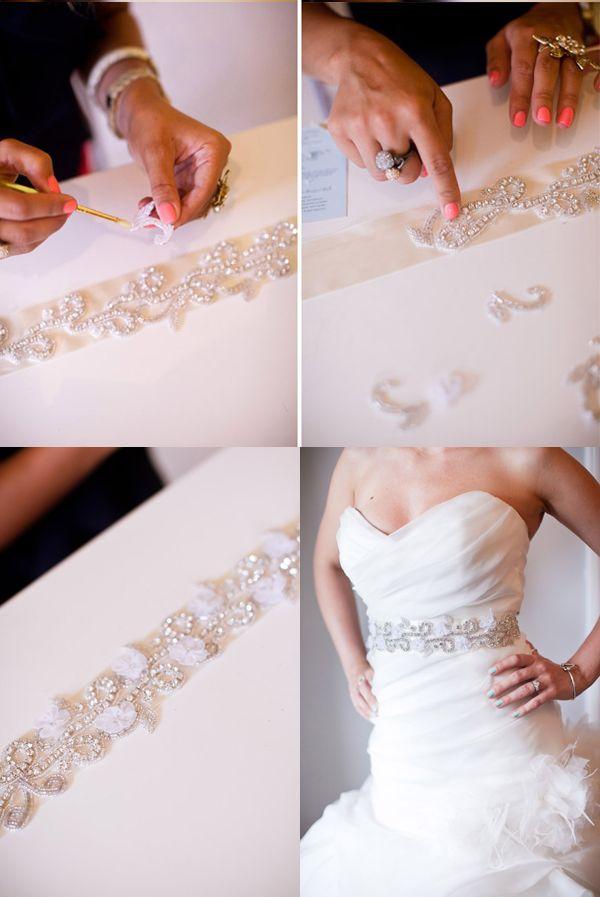 Diy Rhinestone Bridal Sash Wedding Belt Belts Accessories