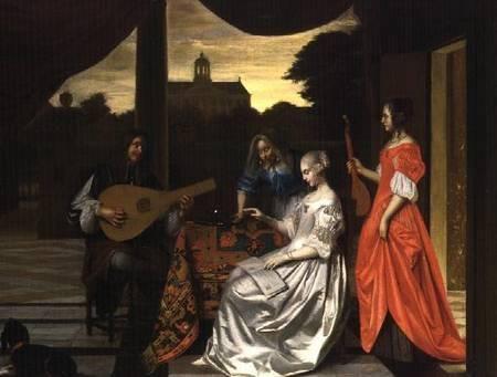Pieter de Hooch (1629 - 1684) - Musical Scene in Amsterdam, Johnny van haeften Gallery, London