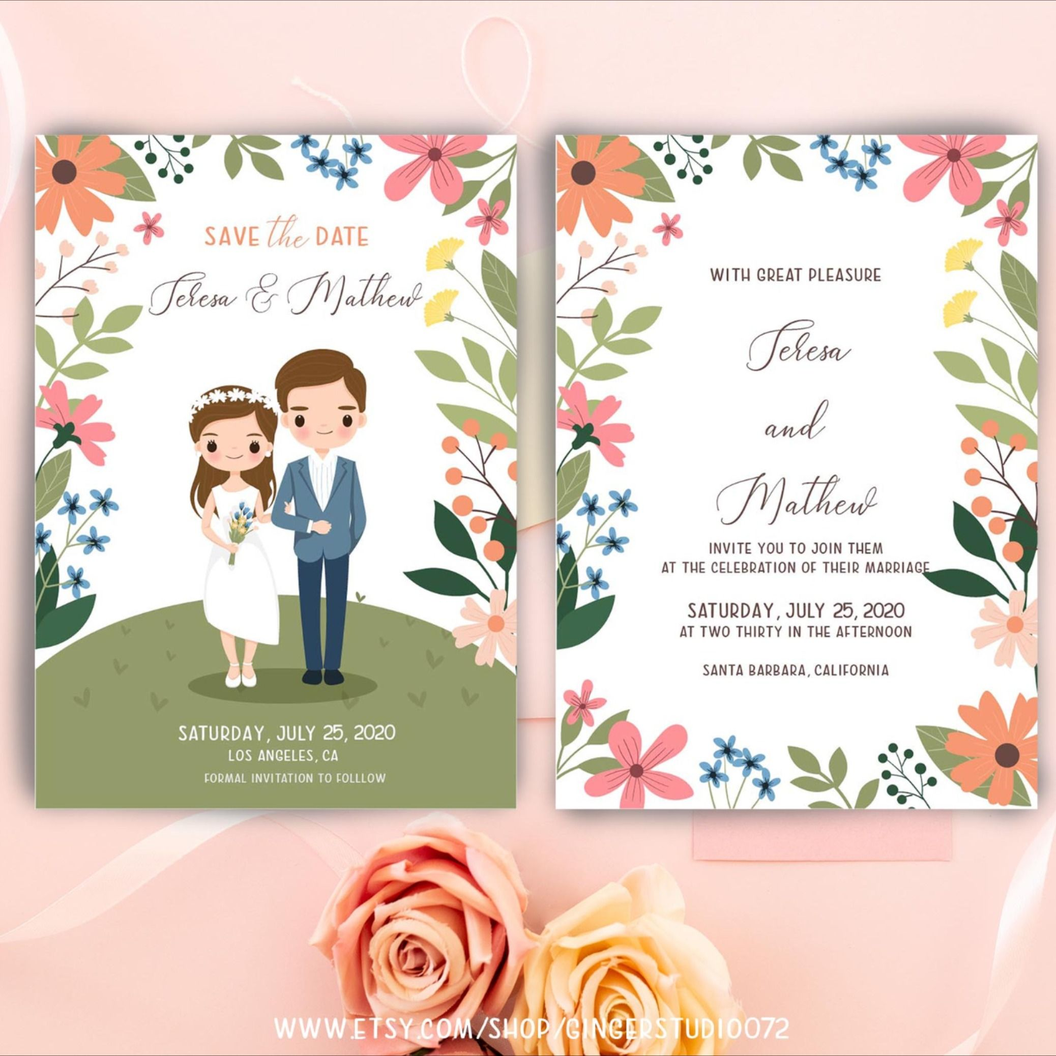 Floral Wedding Templates Includes 20 Designs Word Doc Psd Indesign Illustrator Publisher Free Wedding Invitation Templates Wedding Invitation Templates Wedding Invitation Card Template