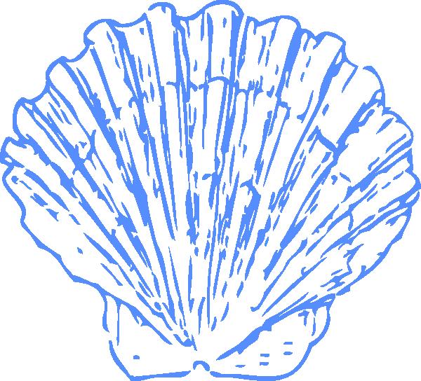 Blue Shell Clip Art Google Search Clip Art Sea Shells Scallop Shells