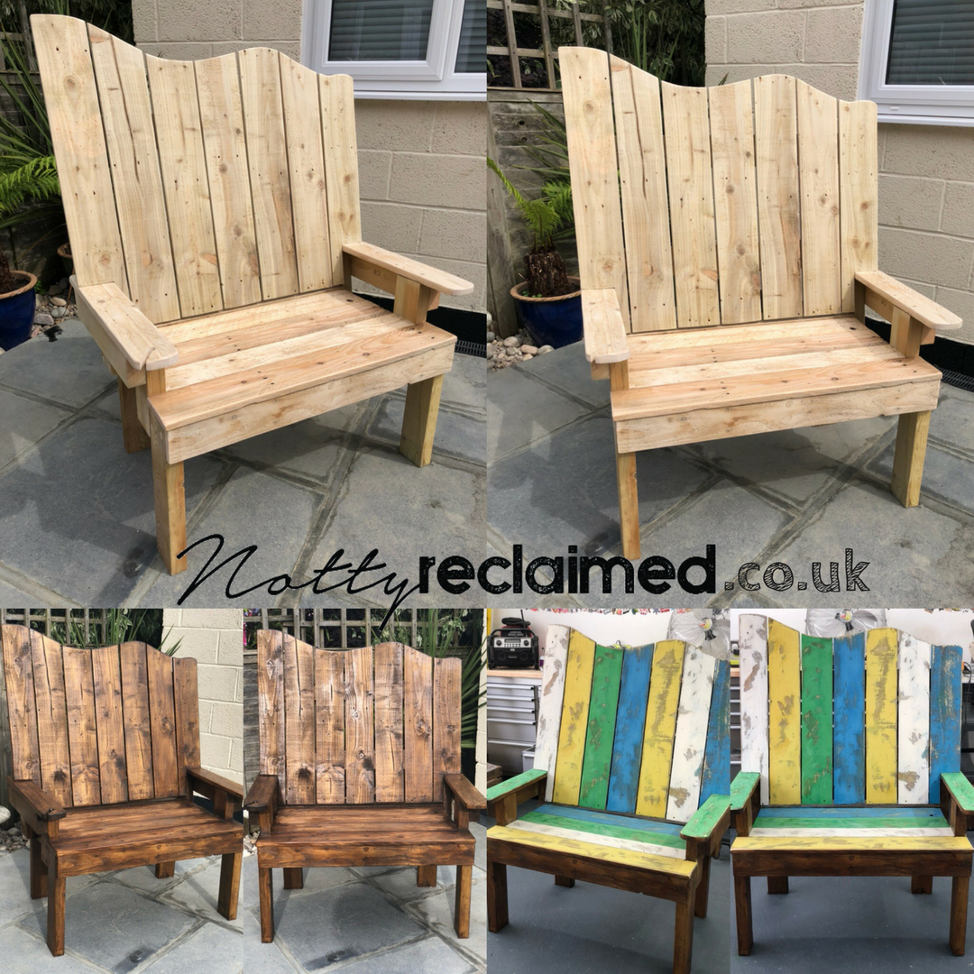 Rustic Bespoke Garden Furniture From Notty Reclaimed Benches And