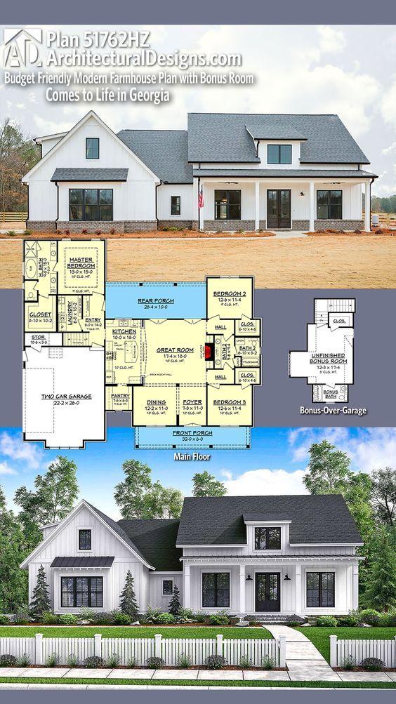 Superb Architectural Designs House Plan 51762HZ Client Built In Georgia. 3+BR, 2