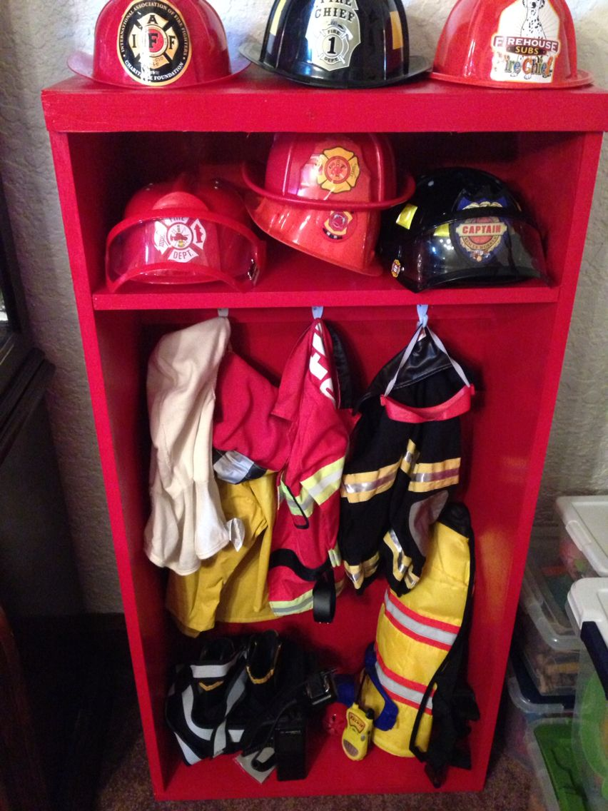 Kids Firefighter Gear Locker Fireman Room Firefighter Room