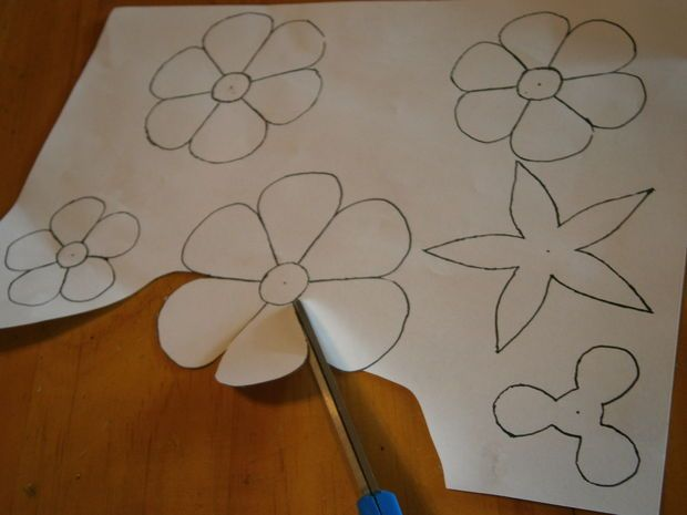 Patterns, Flower Template And Stencil Templates