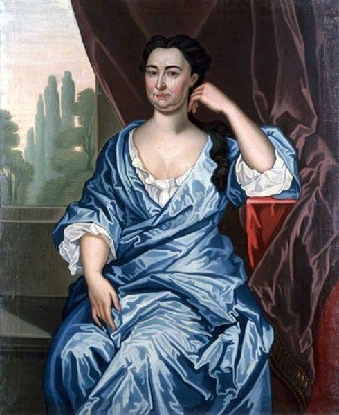 Portrait Maria (van Cortlandt) van Rensselaer. Artist John Watson, Oil on Canvas c.1730. New York, New Amsterdam