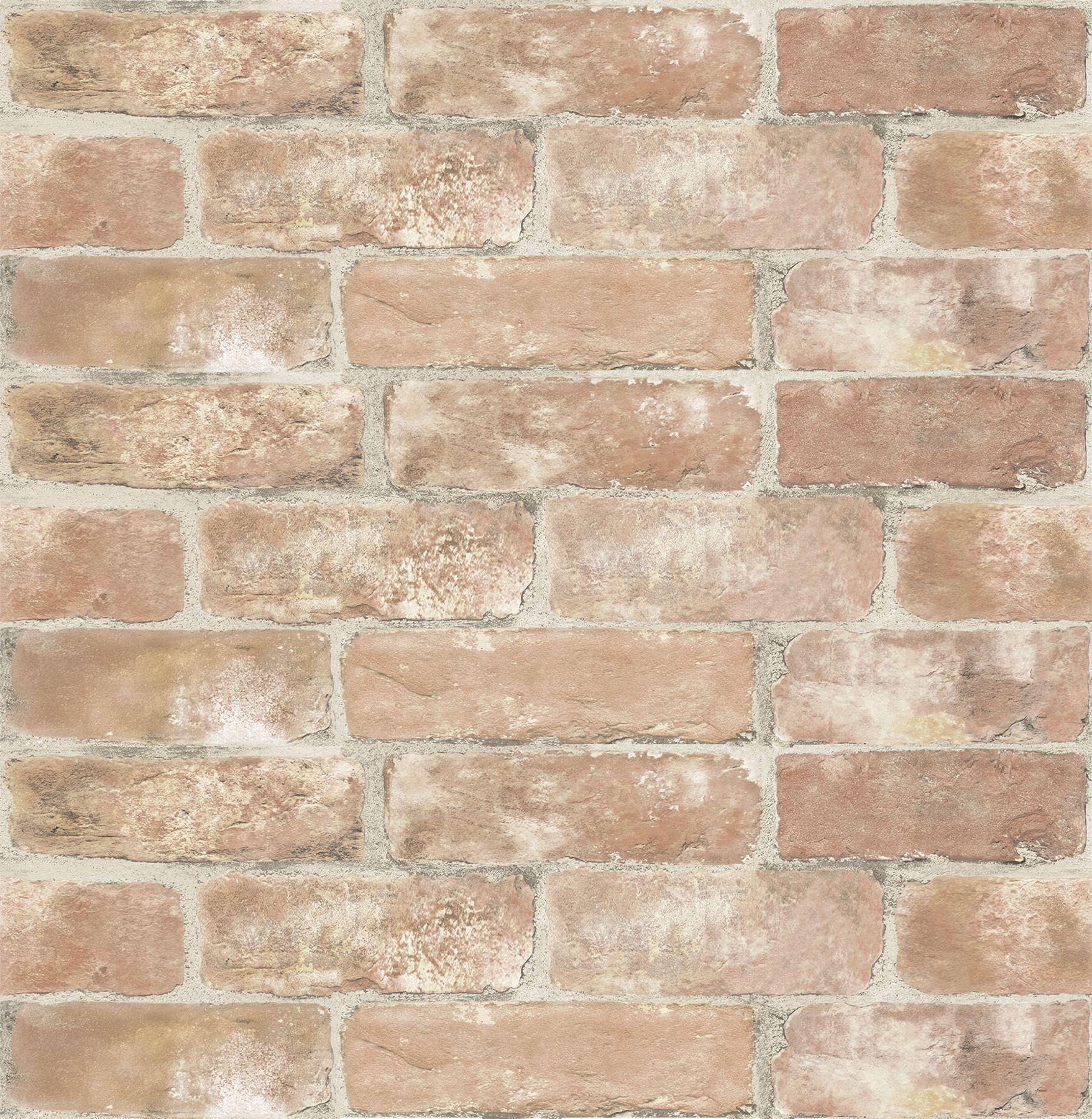 Inhome Old Town Brick Peel Stick Wallpaper Walmart Com In 2020 Brick Wallpaper Peel And Stick Wallpaper Red Brick Wallpaper