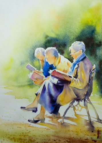 Aquarelles Personnages Aquarelle Marichalar Watercolor