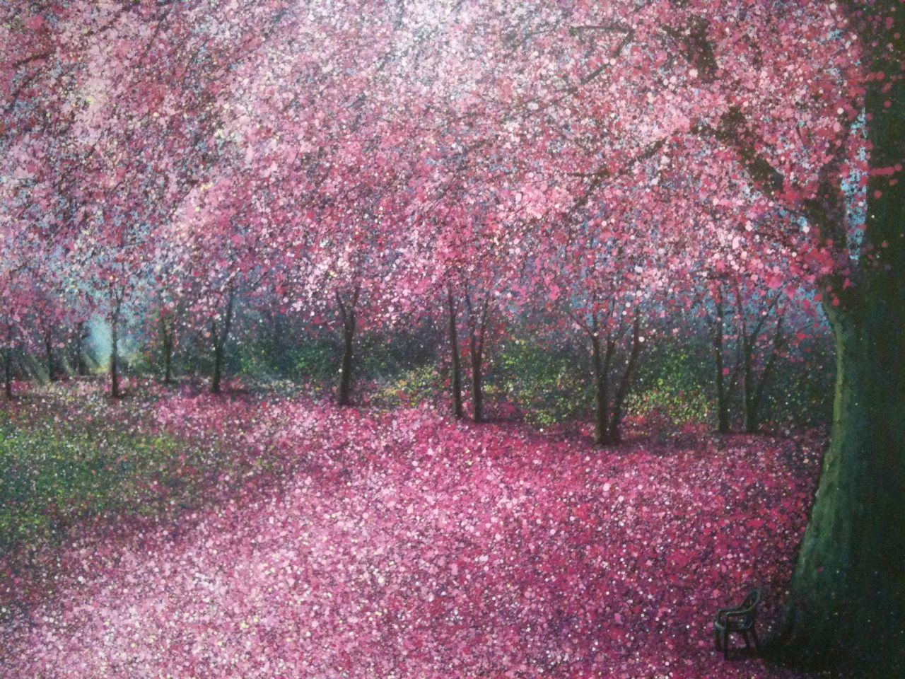 Pin By Katrina Kapustay On Cute Things Cherry Blossom Painting Watercolor Landscape Cherry Blossom