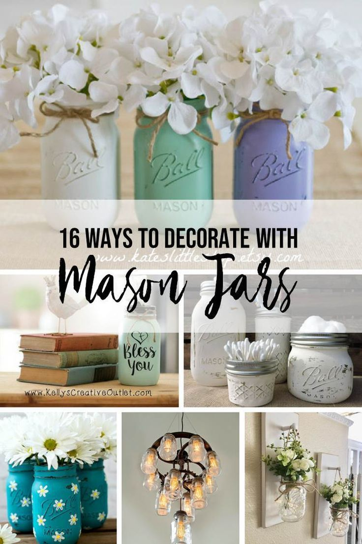 How to's : 16 ways to decorate with mason jars! Cute & clever ideas for every style! | Little Blonde Mom Blog