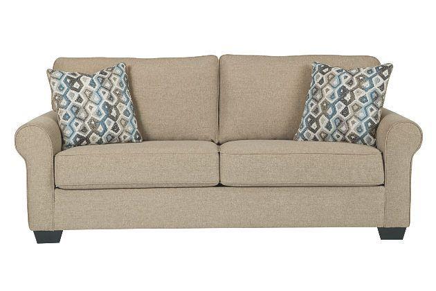 khaki nalini sofaashley furniture polyester 100