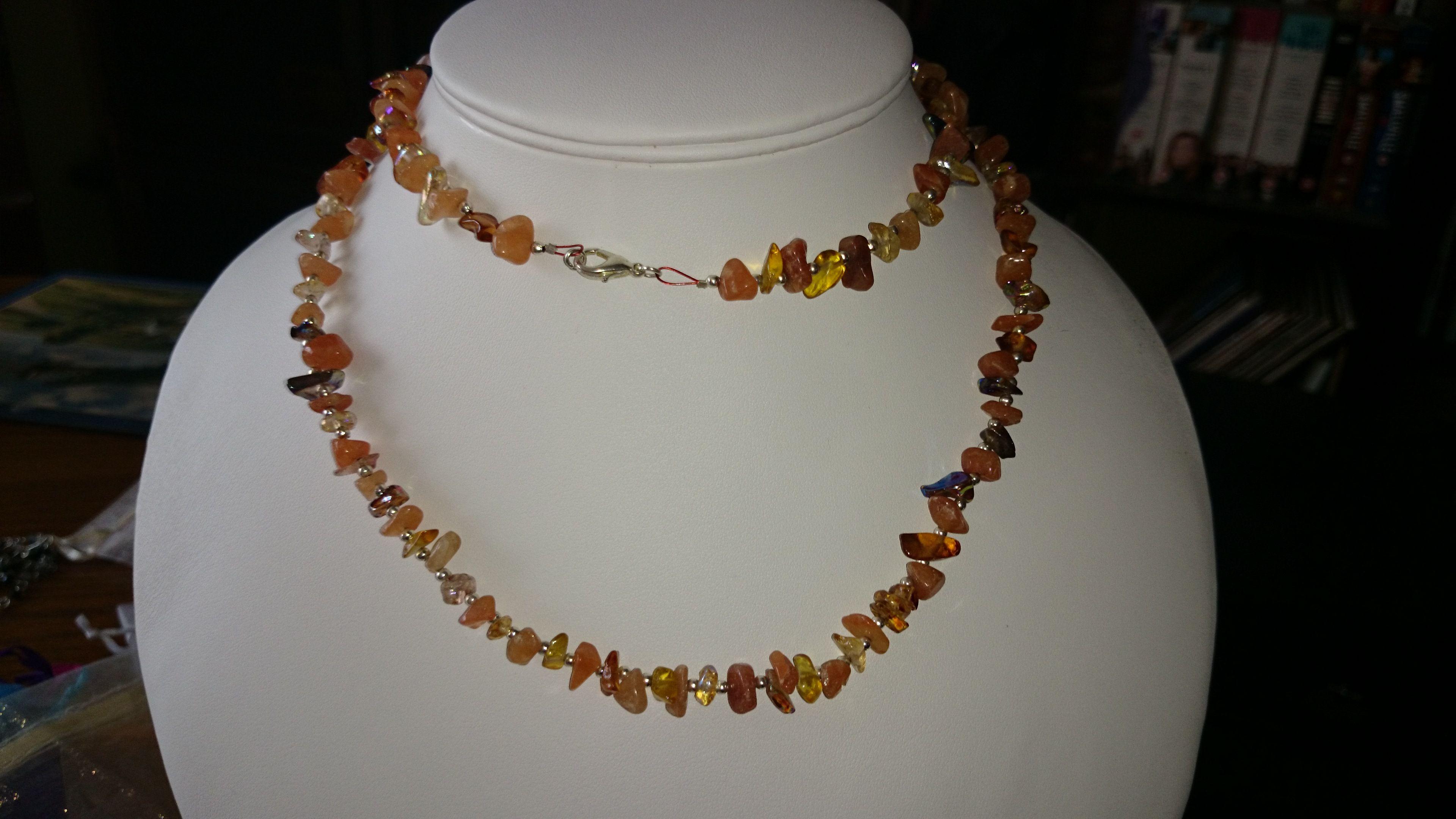 Agate chips necklace www.facebook.com/KimsGlitteringGems