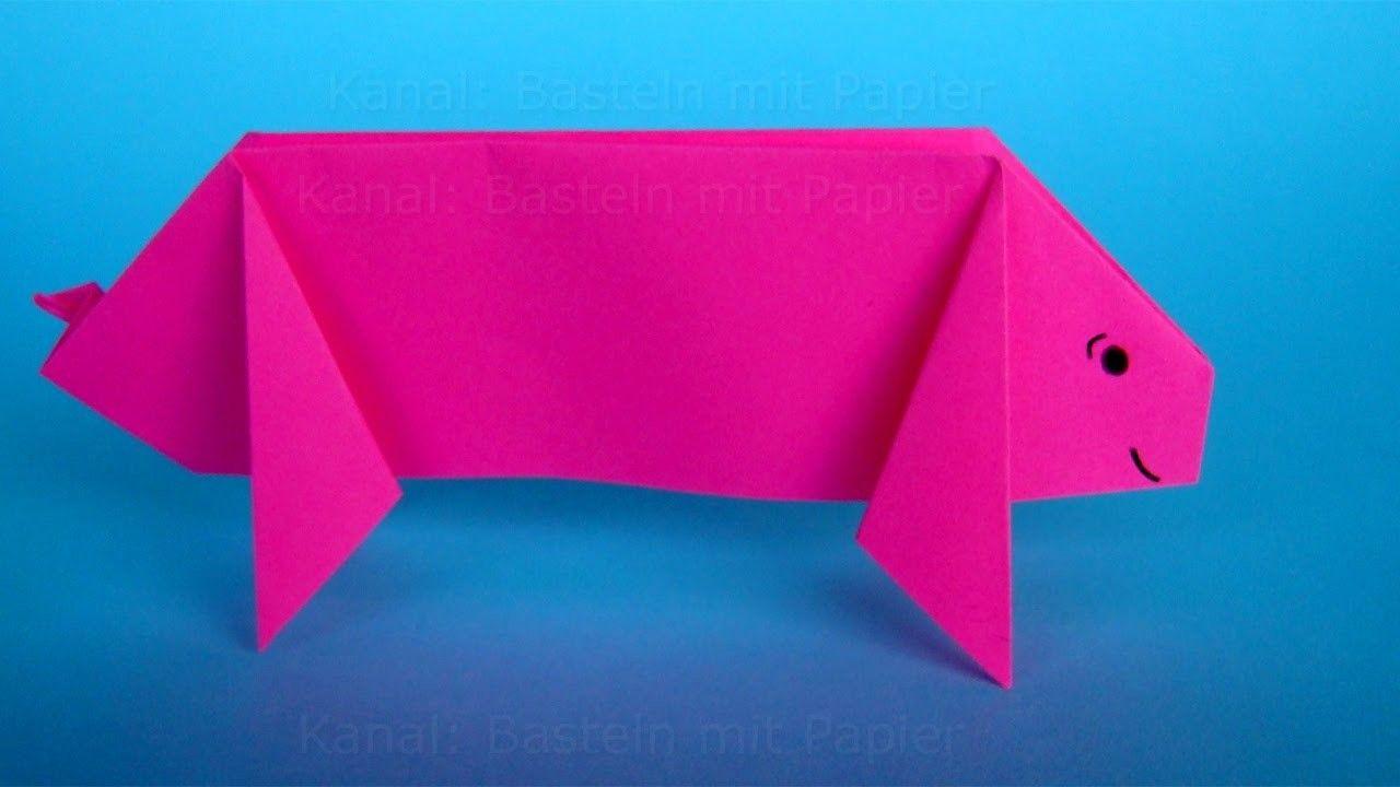 High Quality Origami Schwein Falten. DIY Origami Tiere Basteln Mit Papier Für Silvester:  Glücksbringer Machen Awesome Design