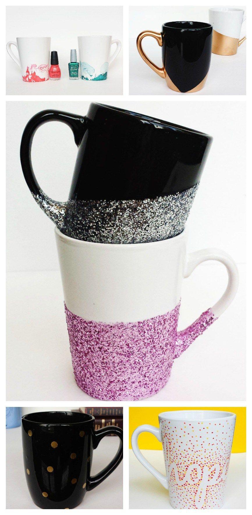 10Minute Mugs 7 Easy DIY Mug Tutorials Diy mug designs