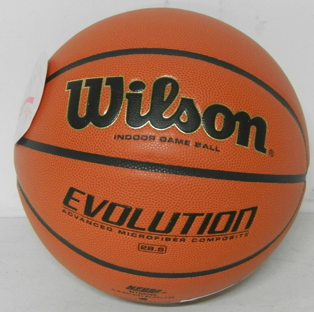 Advertisement Ebay Wilson Evolution Intermediate Size Game Basketball Basketball Indoor Basketball Street Basketball