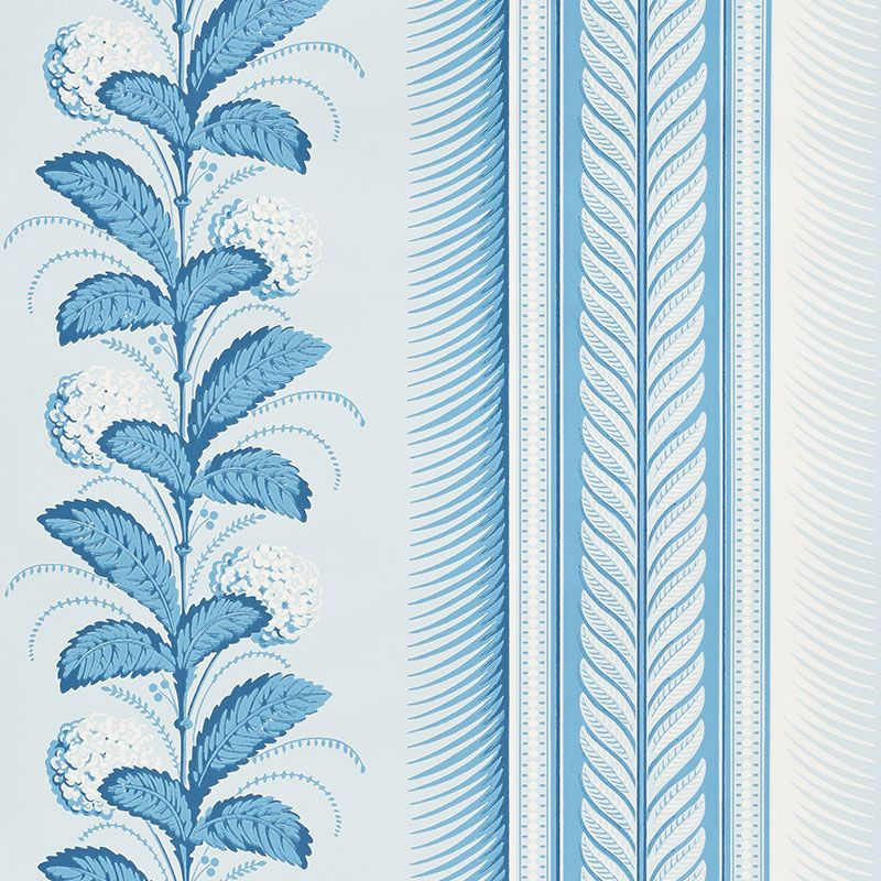 Schumacher Hydrangea Drape Wallpaper Similar To Quadrille