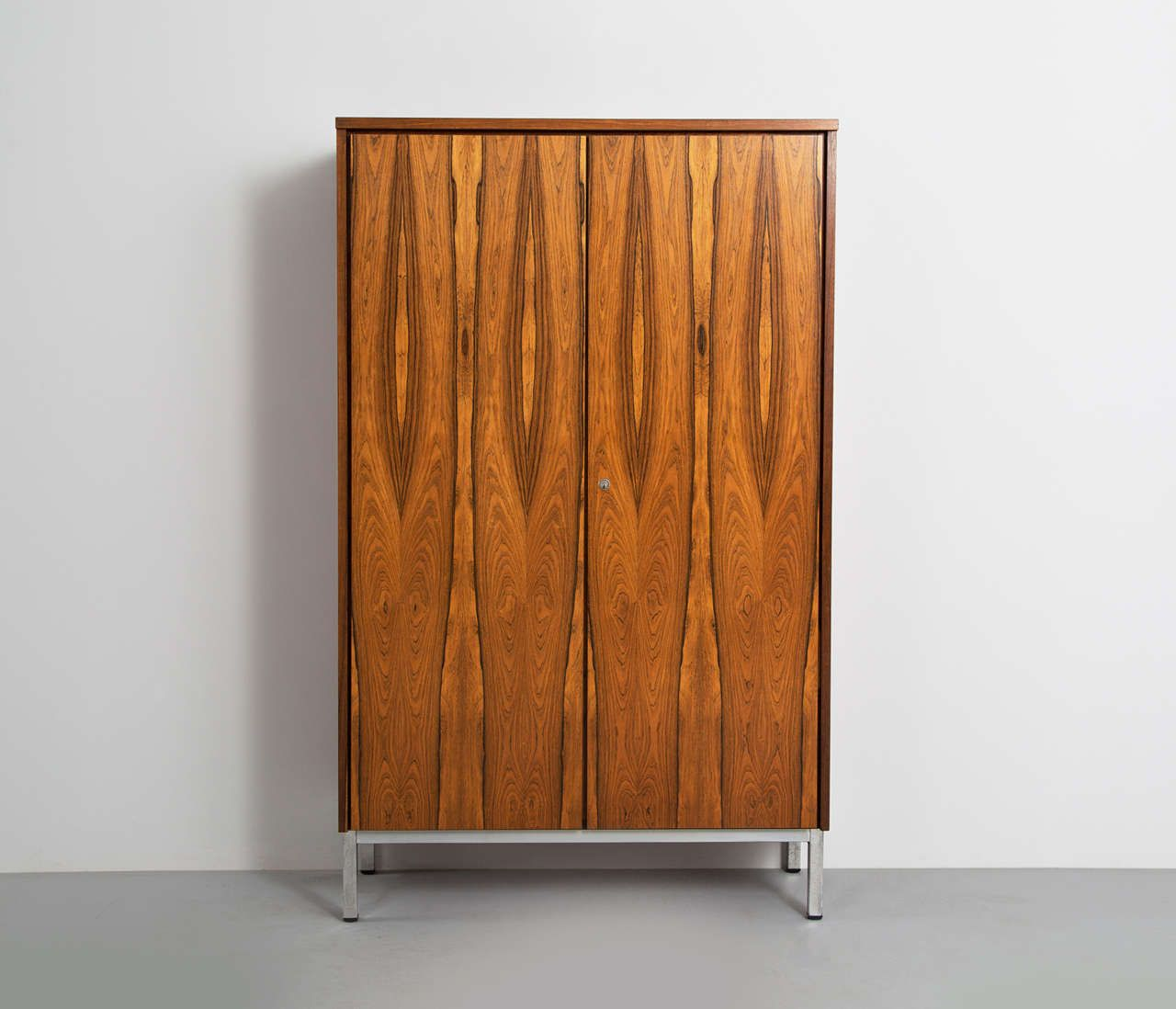 Modernist Rosewood Armoire On Chrome Base | From A Unique Collection Of  Antique And Modern Wardrobes